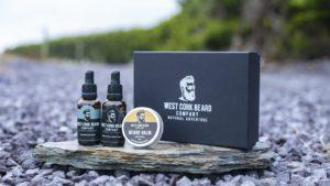 West Cork Beard Company Black Gift Box